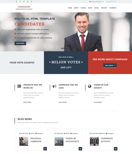 candidates political html5 template