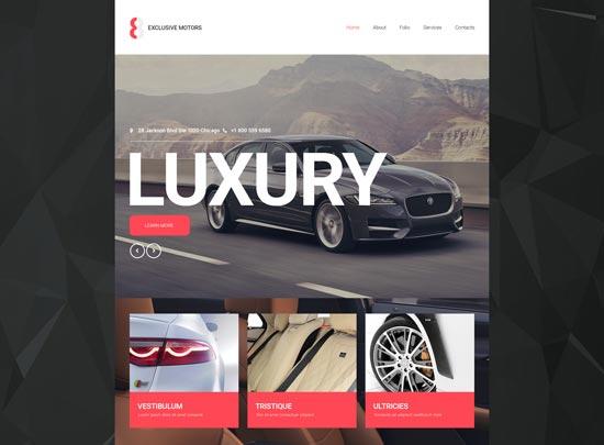 car club responsive website template 55282