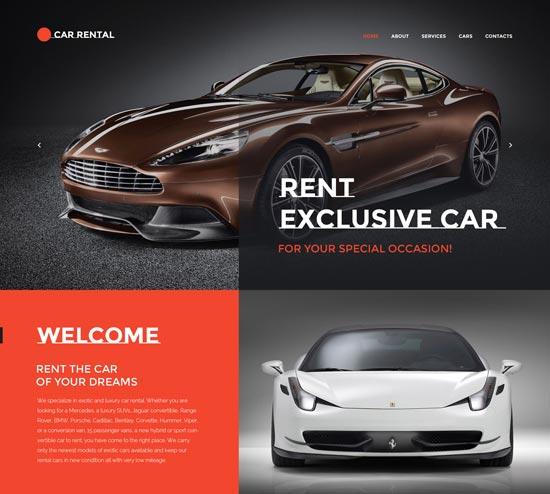car rental website template 57633