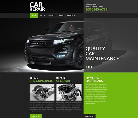 car repair service website template 52961