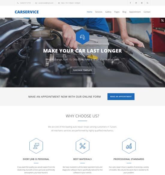 car service mechanic auto shop template