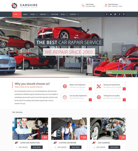 car shire auto mechanic car repair template