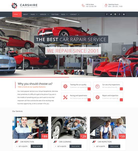 car shire auto mechanic car repair theme