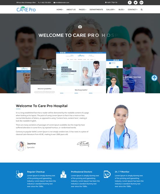 care pro medical html template