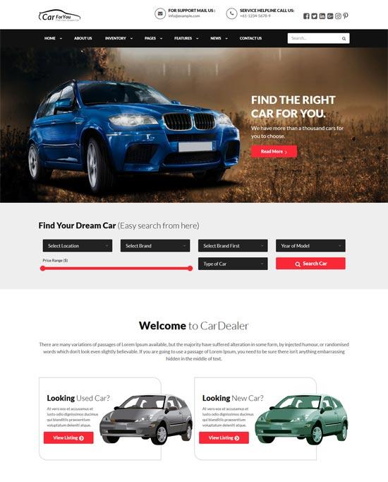 carforyou car dealer wordpress theme