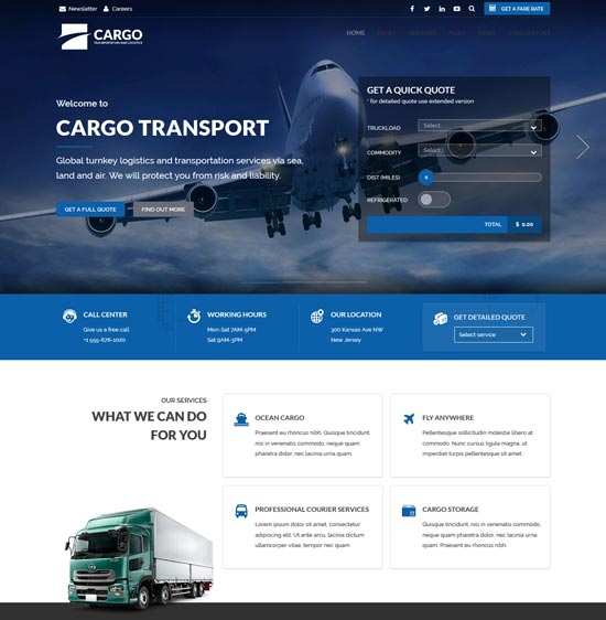 cargo transport logistics theme