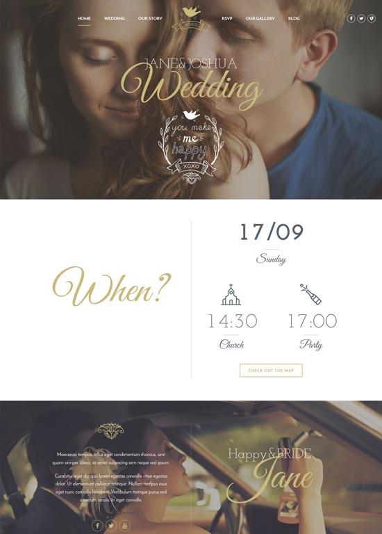 celebration wedding wp theme