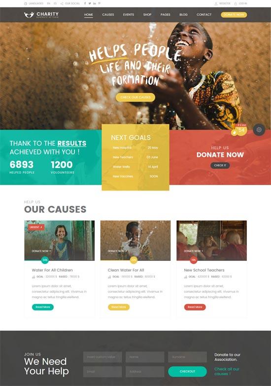 charity hub wp theme