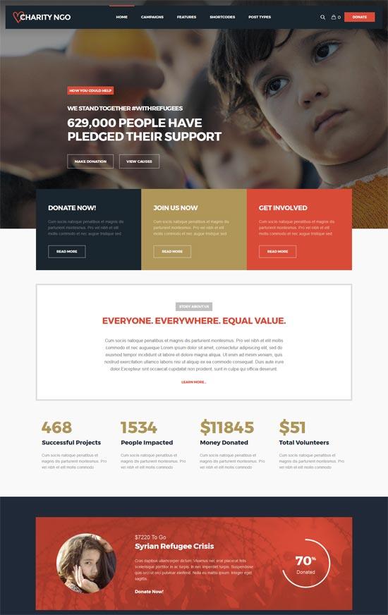 charity ngo donation charity wordpress theme