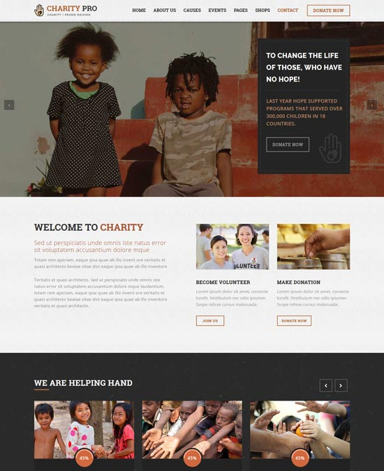 charity pro fund raising html template