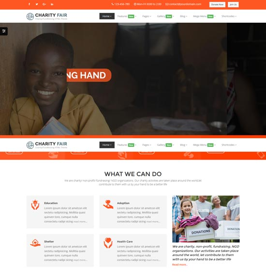 charityfair charity html5 template