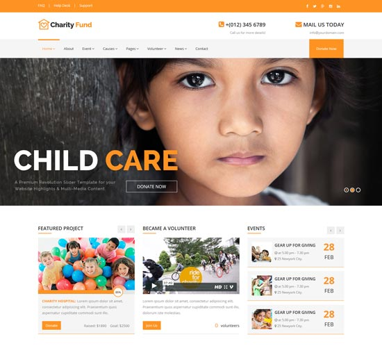charityfund charity html template