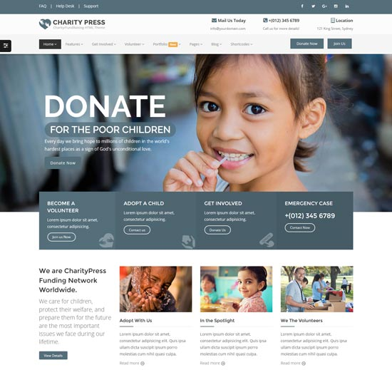 charitypress charity html5 template