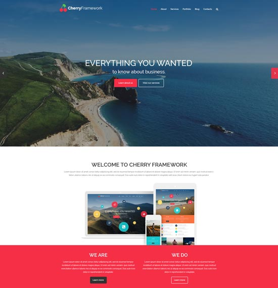 cherry framework wordpress business theme