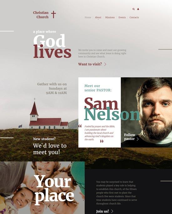 christian html website template