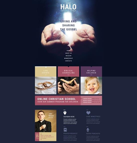 christian responsive website template 51140