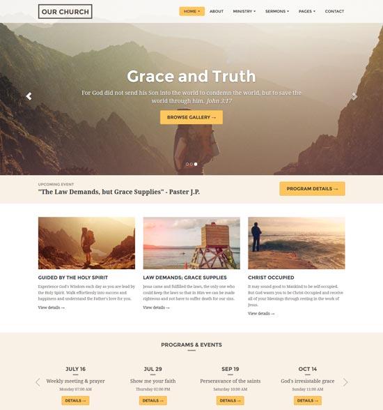 church website template responsive