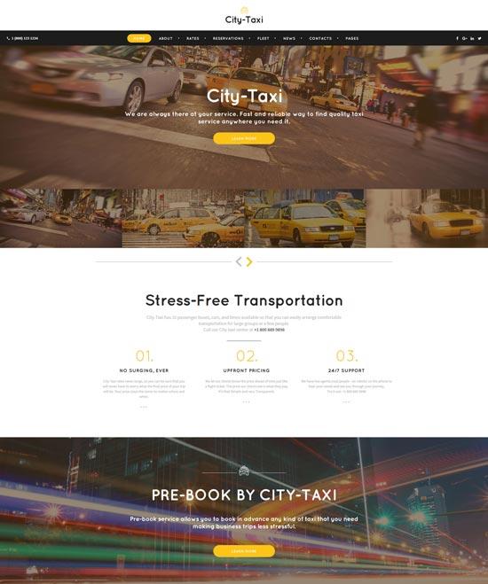 city taxi service website template