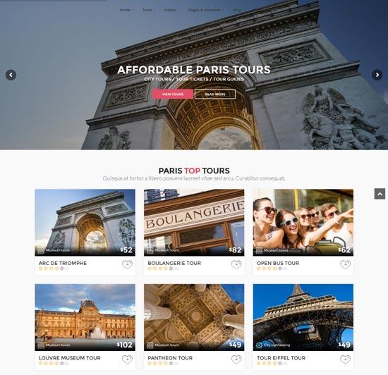 citytours tour travel booking WordPress theme