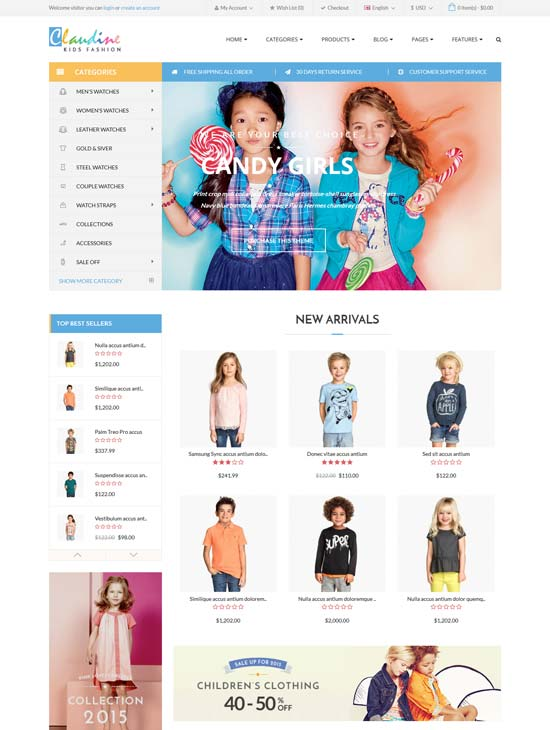 claudine home kids fashion