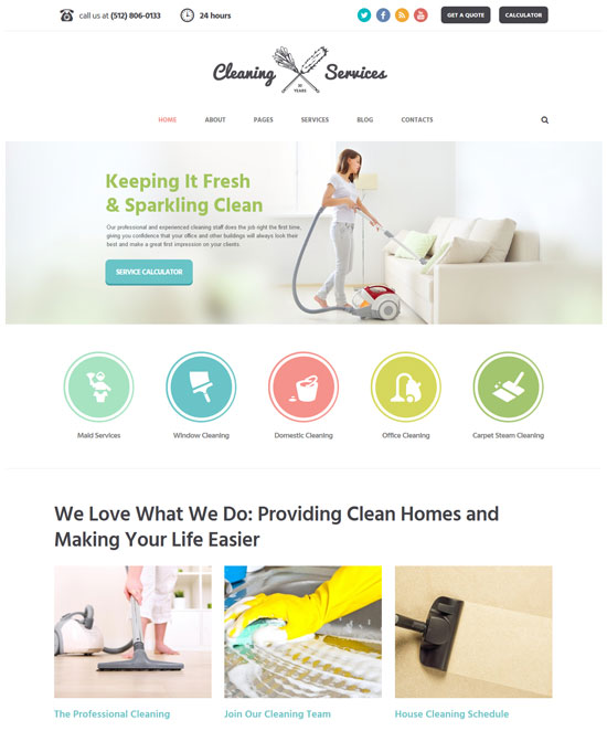 cleaning company janitorial service theme