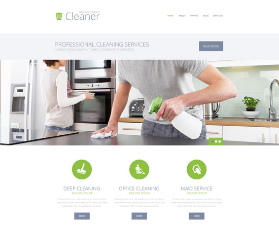 cleaning services WordPress theme 49233