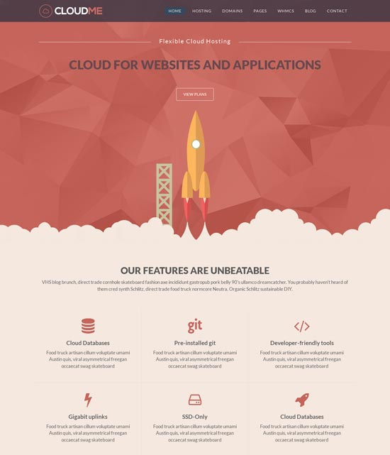 cloudme host wordpress hosting theme