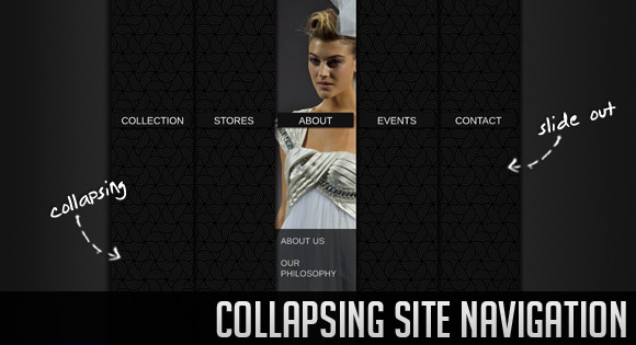 Collapsing Site Navigation with jQuery