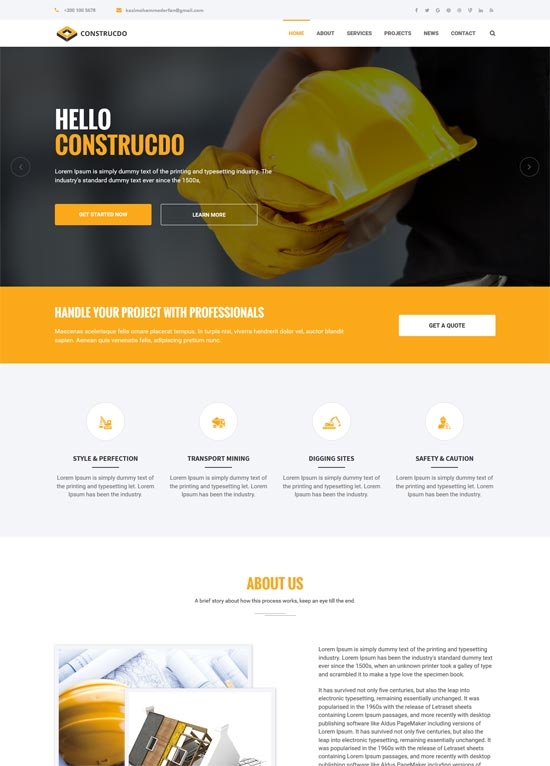 construcdo building renovation html5 template