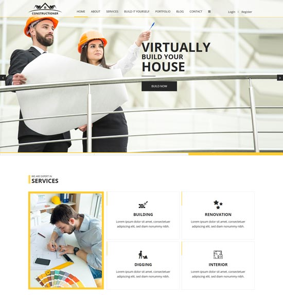constructioner construction html template