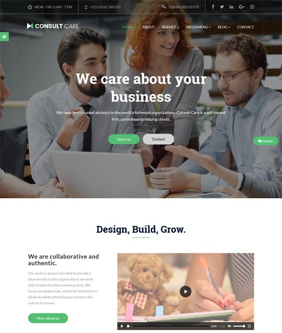 consult care consulting services html template