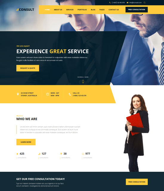 consult consultant business html template