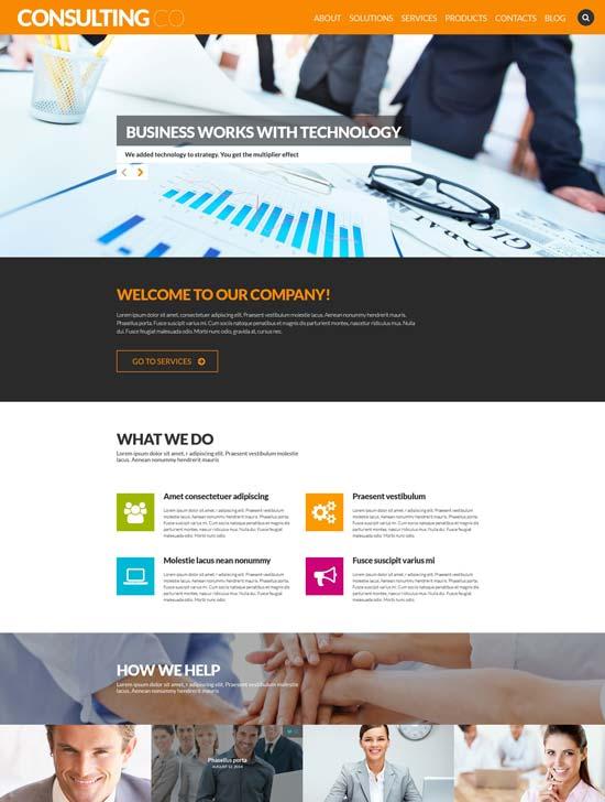 consulting co WordPress theme 52700