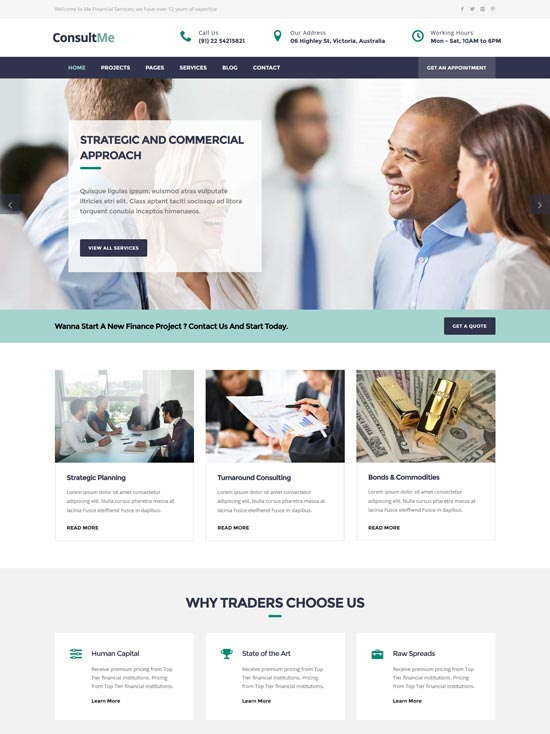 consultme business consulting html5 template