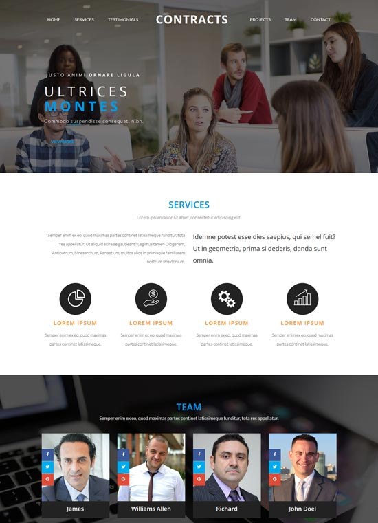 contracts business consulting html5 template