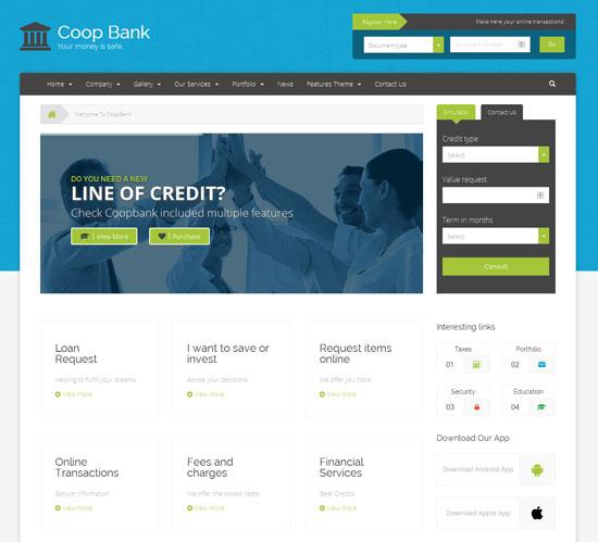 CoopBank - Banking, Financial Credits Template