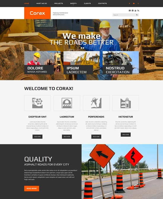 Corax Website Template