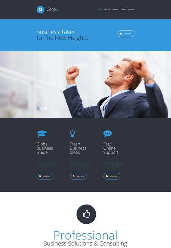 corpix consulting website template