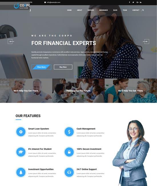 corpo ultimate financial html template