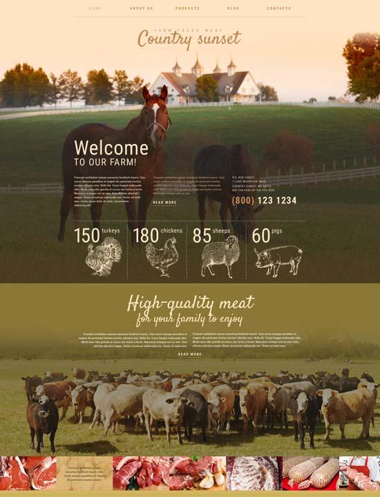 country sunset farm WordPress theme