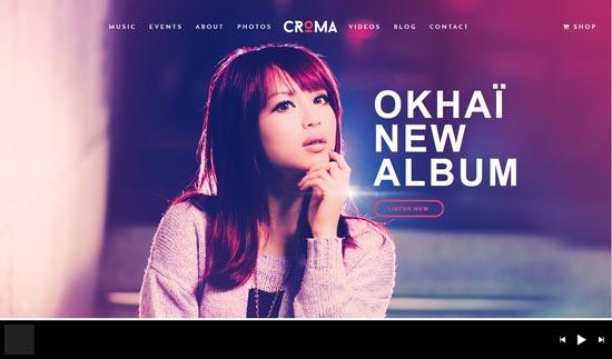 croma responsive music WordPress theme