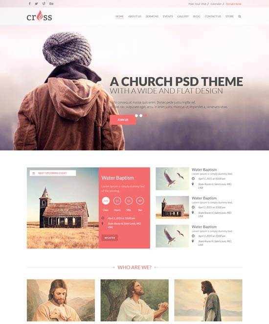 Cross Church HTML Template