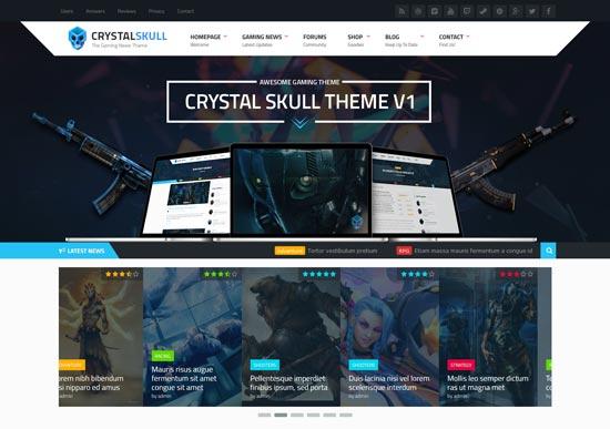 crystalskull gaming WordPress theme