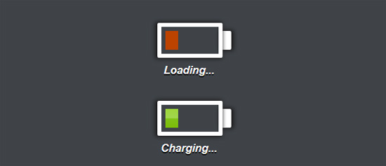 css3 charging battery