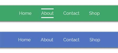 CSS3 Menu hover effects