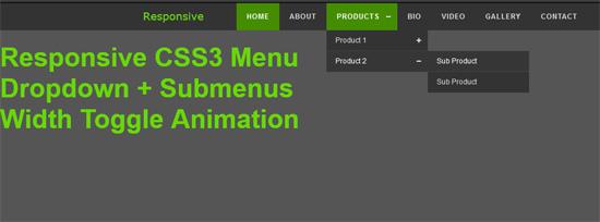 css3 responsive menu dropdown submenu logo