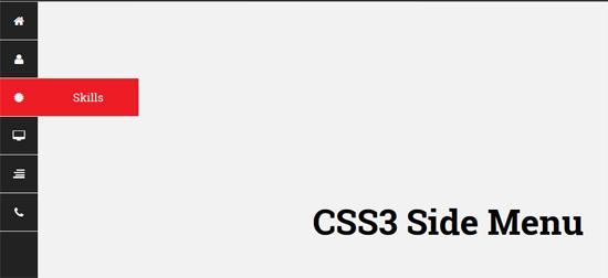 css3 side menu