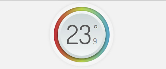 css3 thermometer