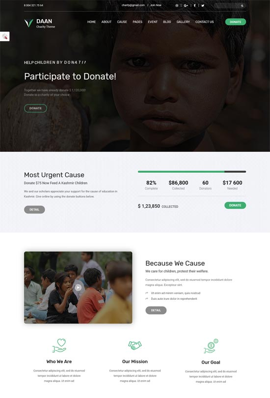 daan ngo charity template
