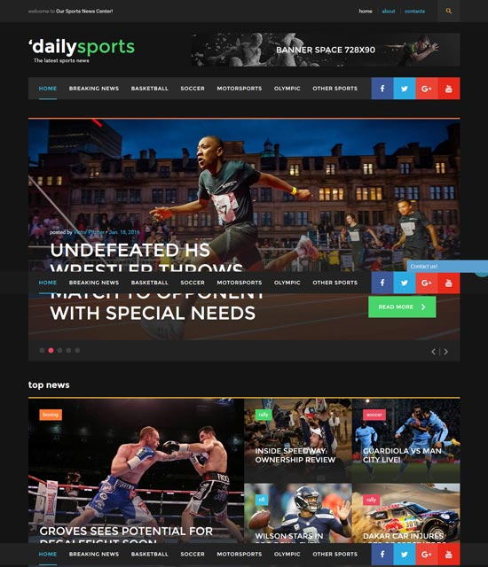 dailysports-html-website-template